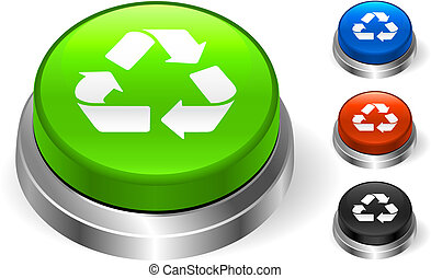 Recycle Symbol On internet Icon Original Vector Illustration...