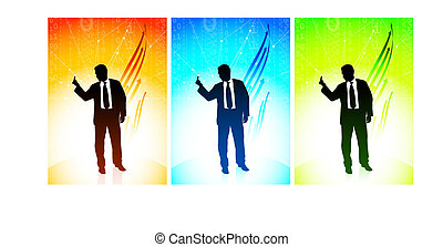 Business man showing a middle finger - Original Vector...