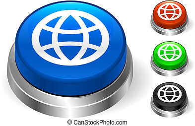 Globe Icon on Internet Button