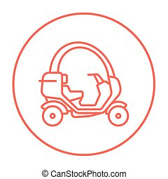Rickshaw line icon. - Rickshaw line icon for web, mobile and...