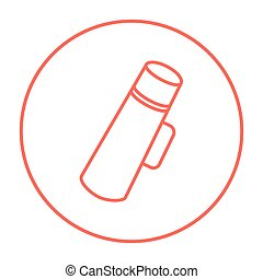 Thermos line icon - Thermos line icon for web, mobile and...