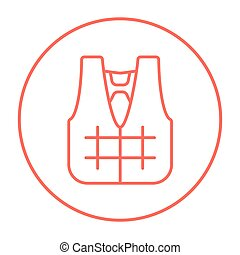 Life vest line icon - Life vest line icon for web, mobile...