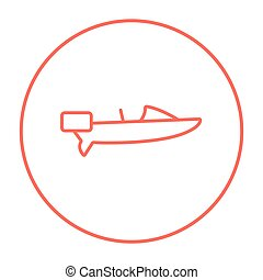 Motorboat line icon. - Motorboat line icon for web, mobile...