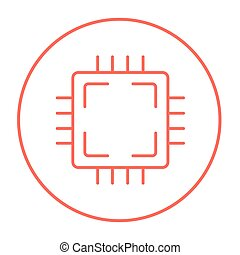 CPU line icon. - CPU line icon for web, mobile and...