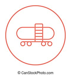 Railway cistern line icon - Railway cistern line icon for...