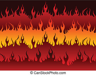 Fire in Hell Original Vector Illustration