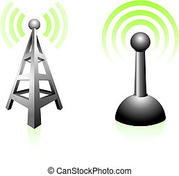 Signal Transmission Original Vector Illustration Simple...