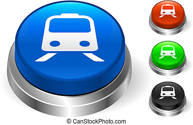 Subway Icon on Internet Button Original Vector Illustration...