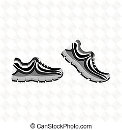 running shoes design - running shoes design, vector...