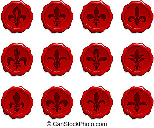 Fleur De Lis Wax Seal Set