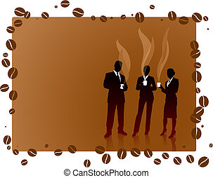 Business People on Coffee Break Original Vector Illustration...