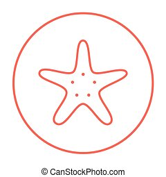 Starfish line icon. - Starfish line icon for web, mobile and...