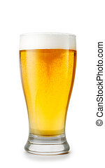 Glass of beer isolated on white BG - Glass of beer isolated...