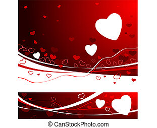 Red Valentine\'s day Background