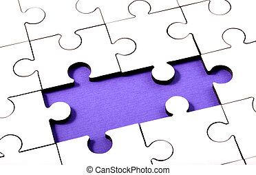 Jigsaw With Two Pieces Missing
