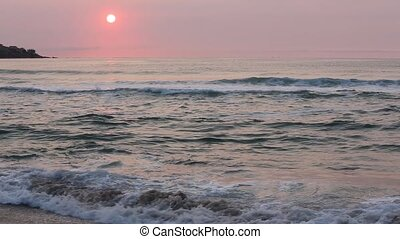 Sea Coast Sunrise View (Bulgaria). - Beautiful sea coast...