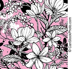 Floral seamless pattern - Beautiful seamless pattern with...