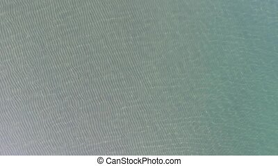 sea water wave surface - aerial drone flying, sea water wave...