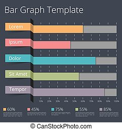 Bar Graph - Horizontal bar chart template, business...
