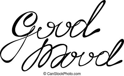 Good mood lettering - Vector isolated good mood lettering