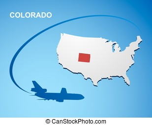 Colorado on USA map