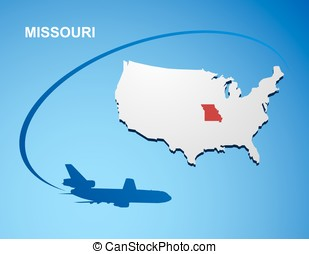 Missouri on USA map