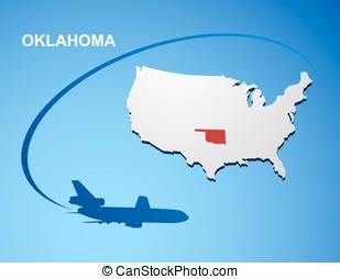 Oklahoma on USA map