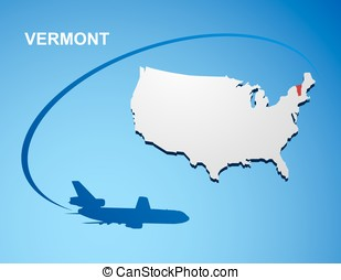 Vermont on USA map