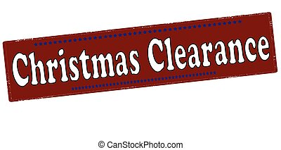 Christmas clearance - Rubber stamp with text Christmas...