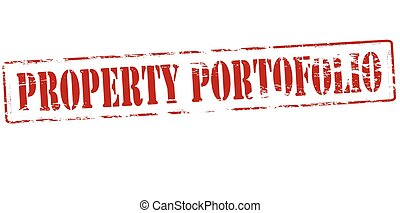 Property portofolio - Rubber stamp with text property...