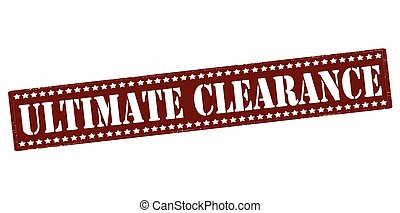 Ultimate clearance - Rubber stamp with text ultimate...