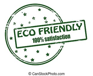 Eco friendly - Rubber stamp with text eco friendly inside,...