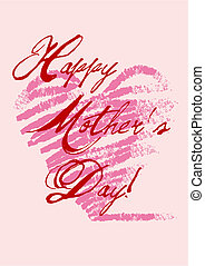 happy mother\\\'s day - grungy mother\\\'s day card, vector...