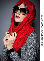 Head Scarf or Modern Hijab Fashion - Caucasian or Persian...