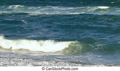 Sea Surf Waves with White Foam. - Sea surf waves with foam...