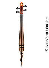 Fountain pen and violin - Combination of a golden pen and an...