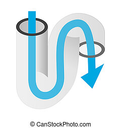 Pipe of sink isometric 3d icon on a white background