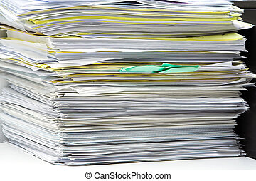 Stack of files and paperwork