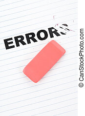 eraser and word error