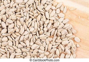 pelado, girasol, seeds.,