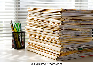 Office and File Stack for background