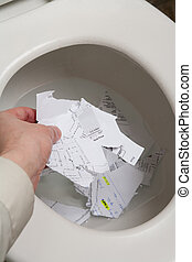 Top Secret - Toilet, document, Concept of top secret