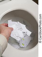 Top Secret - Toilet, document, Concept of top secret