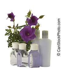 Blue/Violet Tropical Hibiscus Flowers with Hygienic Supplies