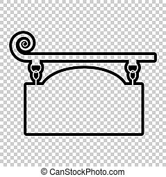 Vector wrought iron sign