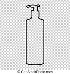 Gel, Foam Or Liquid Soap Dispenser Pump Plastic Bottle...
