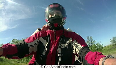 Riding a Motorcycle Bike
