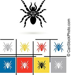 Spider icon vector - Spider icon or spider sign Vector...