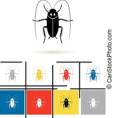 Cockroach icon vector - Cockroach icon or cockroach sign....