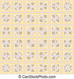 Abstract geometric seamless pattern of interlocking bands...